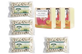 4 x 100 Pueraria capsules  + 3 Pueraria zeep